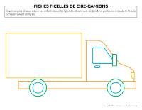 Fiches-ficelles de cire-Camions