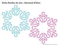 Fiches ficelles de cire-Carnaval d'hiver