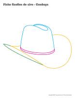 Fiches-ficelles de cire-Cowboys