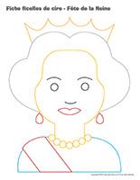 Fiches ficelles de cire-Fête de la Reine