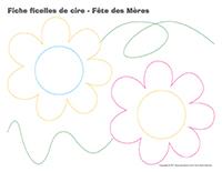 Fiches-ficelles de cire-Fête des Mères