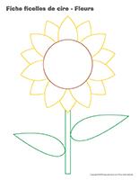 Fiches-ficelles de cire-Fleurs jeu activité