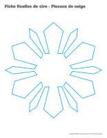 Fiches ficelles de cire-Flocons de neige