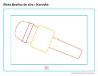 Fiches-ficelles de cire-Karaoké