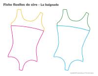 Fiches-ficelles de cire-La baignade