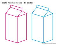 Fiches-ficelles de cire-Le carton