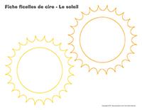 Fiches-ficelles de cire-Le soleil