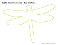 Fiches ficelles de cire-Les libellules