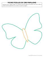 Fiches ficelles de cire-Papillons