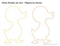 Fiches ficelles de cire-Pâques-La ferme