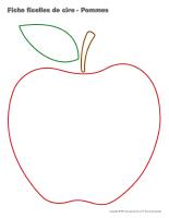 Fiches ficelles de cire-Pommes