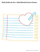 Fiches ficelles de cire-Saint-Valentin-Lettres d'amour