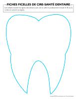 Fiches-ficelles de cire-Santé dentaire
