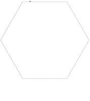 Forme hexagone à découper