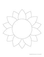 Formes de fleurs dessiner colorier