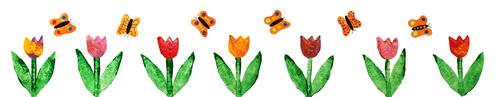 Frise-Tuplipes-Papillons