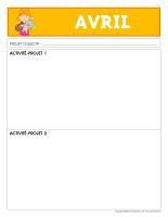 Grille de planification-Activité projet-avril