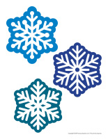 Gros autocollants-Flocons de neige
