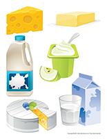 Gros autocollants-Les produits laitiers