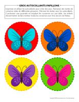 Gros autocollants-Papillons