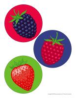 Gros autocollants-Petits fruits