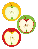 Gros autocollants-Pommes