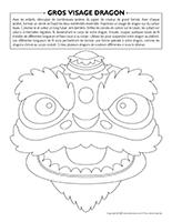 Gros visage-dragon
