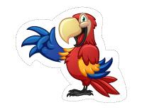 Guirlande-Les perroquets