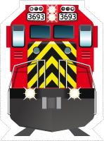 Guirlande-Les trains