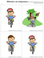 Histoire en séquence - Sécurité à vélo