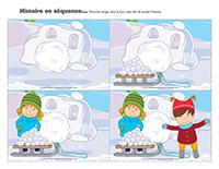 Histoire en séquence-Carnaval d'hiver