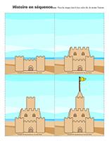Histoire en séquence-Châteaux de sable