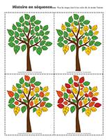 Histoire en séquence-Couleurs d'automne