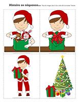 Histoire en séquence-L'emballage de cadeau