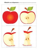 Histoire en séquence-Les pommes