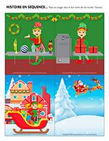 Histoire en séquence-Royaume du père Noël