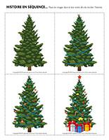 Histoire en séquence-Sapin de Noël