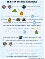 Histoire imagée - Le bonga bonhomme de neige