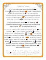 Histoires imagées-Halloween-La sécurité