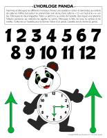 Horloge-panda