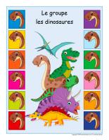 Identification groupe-Dinosaures