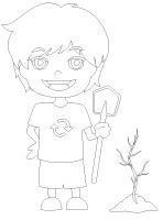 Image à colorier-La pépinière