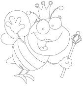 Images à colorier - Les abeilles