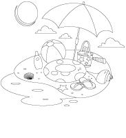 Images à colorier - Les vacances