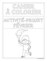 Images à colorier-Activité-projet-Février