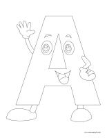 Images à colorier-Alphabet-1