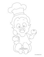 Images à colorier-Apprentis cuisiniers