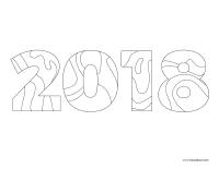 Images à colorier-Bonne année 2018