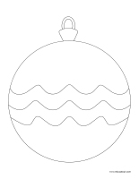 Images à colorier-Boules de Noël