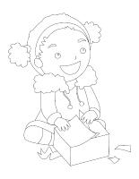 Images à colorier-Bricolages de Noël 2013